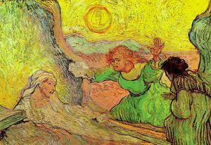Vincent Van Gogh The Raising of Lazarus after Rembrandt Art Print Poster
