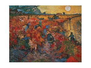 The red Vineyard at Arles,1888. Canvas,73 x 91 cm. by Vincent van Gogh