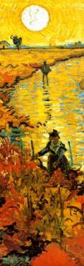 The Red Vineyard at Arles, c.1888 (detail) by Vincent van Gogh