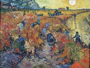 The Red Vineyards at Arles, 1888 by Vincent van Gogh