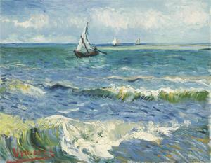 The Sea at Les Saintes-Maries-de-la-Mer, 1888 by Vincent van Gogh