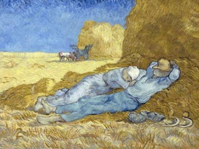 The Siesta (After Millet) by Vincent van Gogh