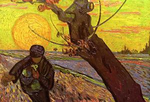 Vincent Van Gogh The Sower Art Print Poster