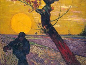 The Sower at Sunset, 1888 by Vincent van Gogh