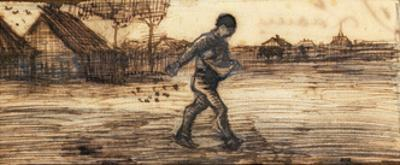 The Sower, from a Series of Four Drawings Representing the Four Seasons by Vincent van Gogh