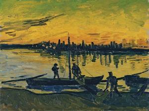 The Stevedores in Arles, 1888 by Vincent van Gogh