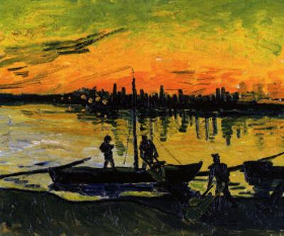 The Stevedores in Arles by Vincent van Gogh