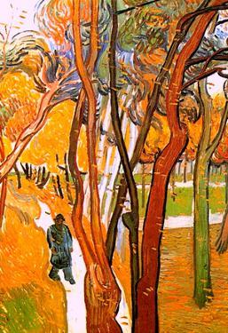 Vincent Van Gogh The Walk in Falling Leaves Art Print Poster