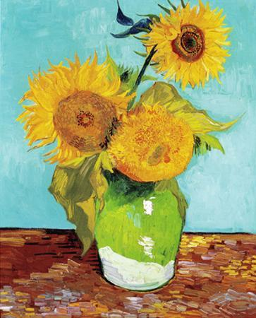 Three Sunflowers in a Vase (1883) by Vincent van Gogh