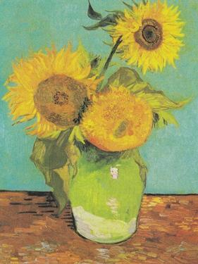 Three Sunflowers in a Vase, 1888 by Vincent van Gogh