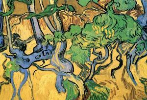 Vincent Van Gogh Tree Roots and Trunks Art Print Poster