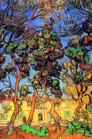 Vincent Van Gogh Trees in the Garden of Saint-Paul Hospital