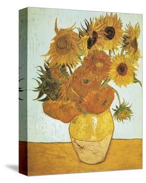 Twelve Sunflowers on Blue, c.1888 by Vincent van Gogh
