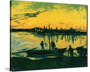Unloading at Arles, 1888 by Vincent van Gogh