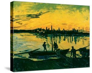 Unloading at Arles, c.1888 by Vincent van Gogh
