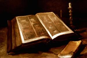 Van Gogh: Bible, 1885 by Vincent van Gogh