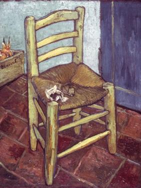Van Gogh: Chair, 1888-89 by Vincent van Gogh
