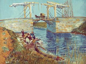 Van Gogh: Drawbridge, 1888 by Vincent van Gogh