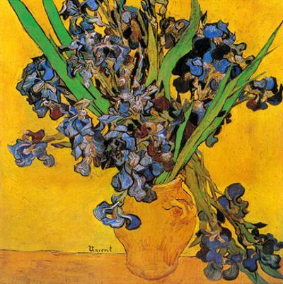 Vase avec iris (Détail) by Vincent van Gogh