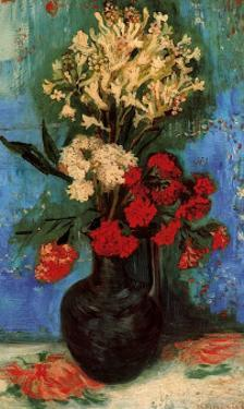 Vase with Carnations and Other Flowers, c.1886 by Vincent van Gogh