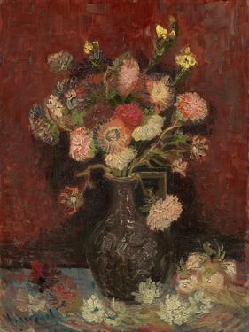 Vase with Chinese Asters and Gladioli, 1886 by Vincent van Gogh