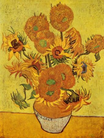 Vase with Fifteen Sunflowers, c.1888 by Vincent van Gogh