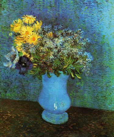 Vase with Lilacs, Daisies and Anemone by Vincent van Gogh