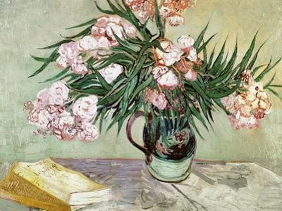 Vase with Oleanders and Books, c.1888 by Vincent van Gogh