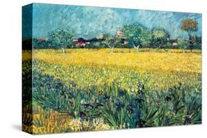 View of Arles with Irises by Vincent van Gogh