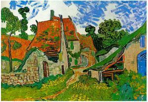 Vincent Van Gogh Village Street in Auvers Art Print Poster