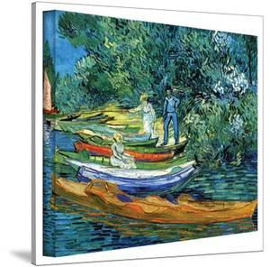 Vincent van Gogh 'Bank of The Oise at Auver' Wrapped Canvas Art by Vincent van Gogh