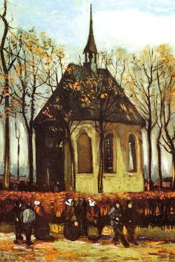 Vincent Van Gogh Congregation Leaving the Reformed Church in Nuenen by Vincent van Gogh