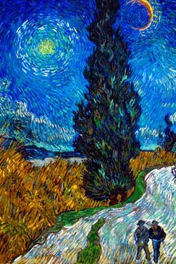 Vincent Van Gogh Country Road in Provence by Night by Vincent van Gogh