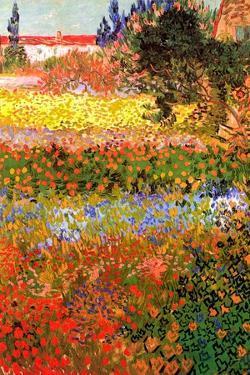 Vincent van Gogh Flowering Garden by Vincent van Gogh