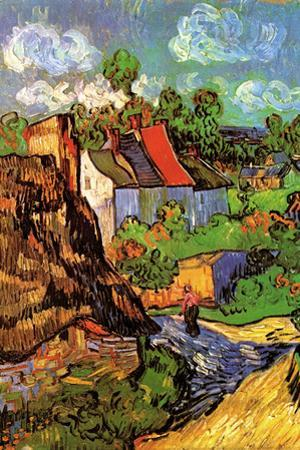 Vincent van Gogh Houses in Auvers Hillside by Vincent van Gogh