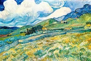 Vincent van Gogh Mountain Landscape behind the Hospital Saint-Paul by Vincent van Gogh