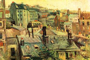 Vincent Van Gogh Overlooking the Rooftops of Paris by Vincent van Gogh