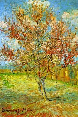 Vincent van Gogh Pink Peach Tree in Blossom Reminiscence of Mauve by Vincent van Gogh