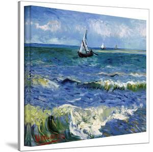 Vincent van Gogh 'Seascape At Saintes Maries' Wrapped Canvas Art by Vincent van Gogh