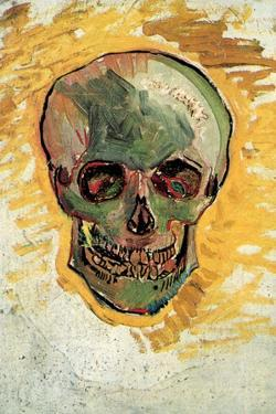 Vincent Van Gogh Skull Plastic Sign by Vincent van Gogh