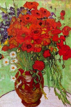 Vincent van Gogh Still Life Red Poppies and Daisies by Vincent van Gogh