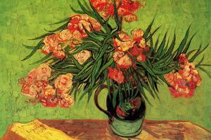 Vincent Van Gogh Still Life Vase with Oleanders and Books by Vincent van Gogh