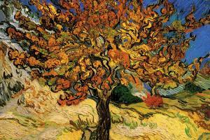 Vincent Van Gogh The Mulberry Tree Plastic Sign by Vincent van Gogh