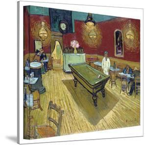 Vincent van Gogh 'The Night Cafe in the Place Lamartine in Arles' Wrapped Canvas by Vincent van Gogh