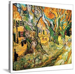 Vincent van Gogh 'The Road Menders' Wrapped Canvas Art by Vincent van Gogh