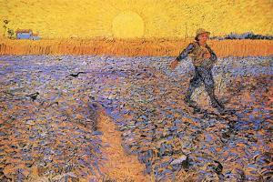 Vincent Van Gogh The Sower 3 by Vincent van Gogh