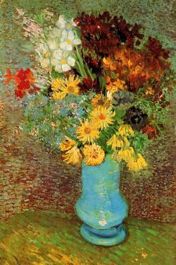 Vincent van Gogh Vase with Daisies and Anemones by Vincent van Gogh