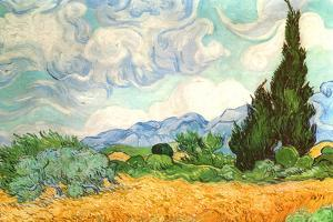 Vincent van Gogh (Wheatfield with Cypresses) by Vincent van Gogh