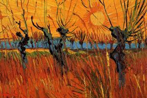 Vincent van Gogh Willows at Sunset by Vincent van Gogh