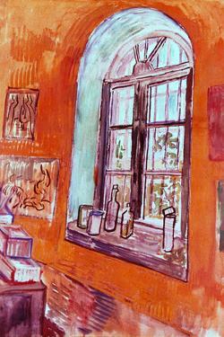 Vincent van Gogh Window of Vincent's Studio at the Asylum by Vincent van Gogh